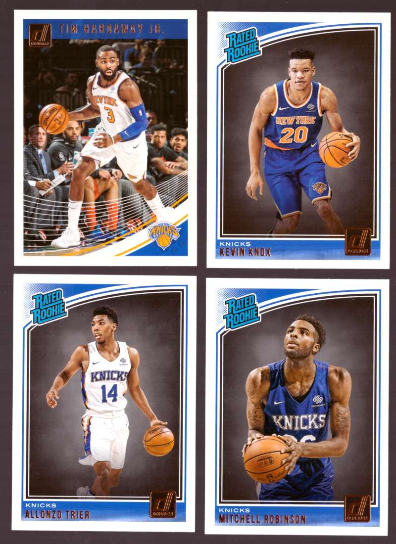 2018-19 Donruss Basketball Team Set - New York Knicks (8 Cards)