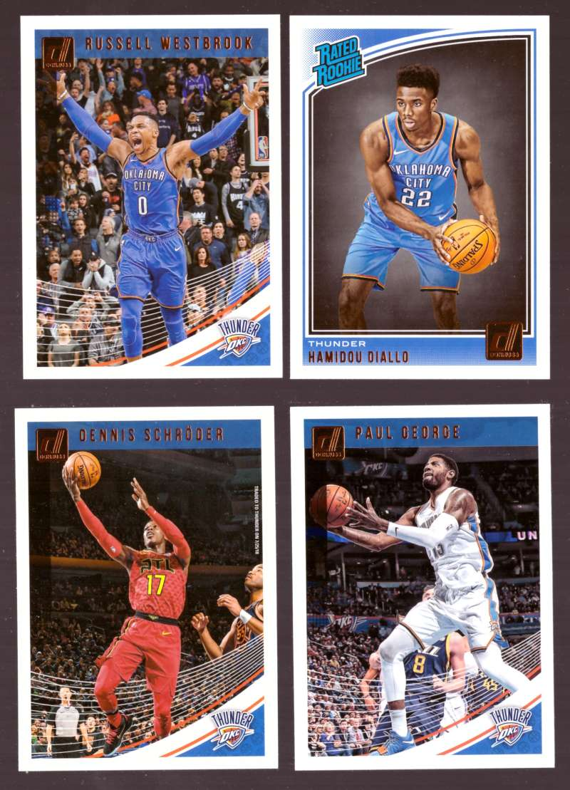 2018-19 Donruss Basketball Team Set - Oklahoma City Thunder (6 Cards)