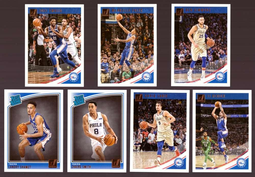 2018-19 Donruss Basketball Team Set - Philadelphia 76ers (7 Cards)
