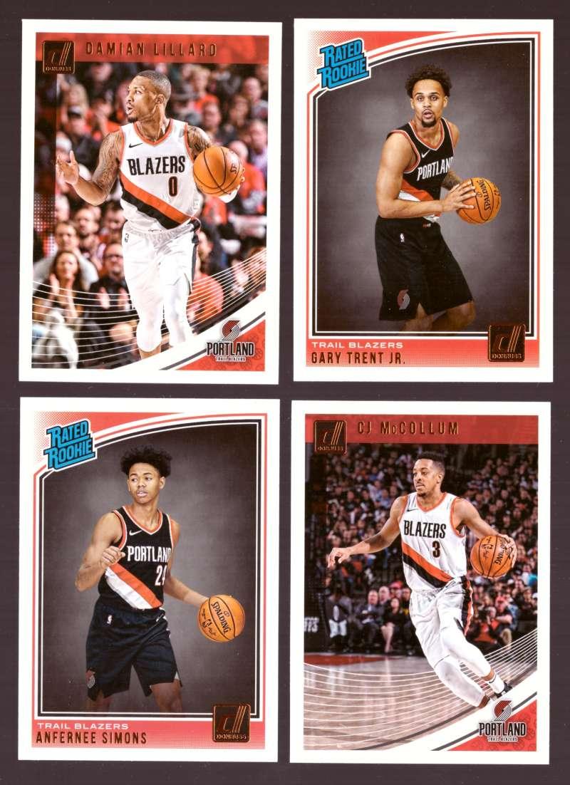 2018-19 Donruss Basketball Team Set - Portland Trail Blazers (7 Cards)