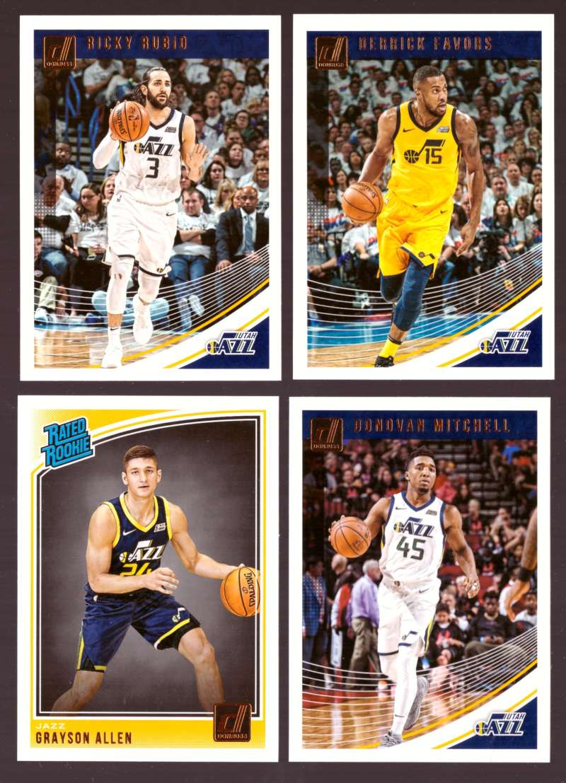 2018-19 Donruss Basketball Team Set - Utah Jazz (6 Cards)