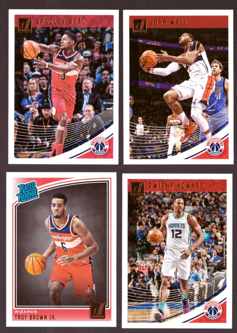 2018-19 Donruss Basketball Team Set - Washington Wizards (6 Cards)