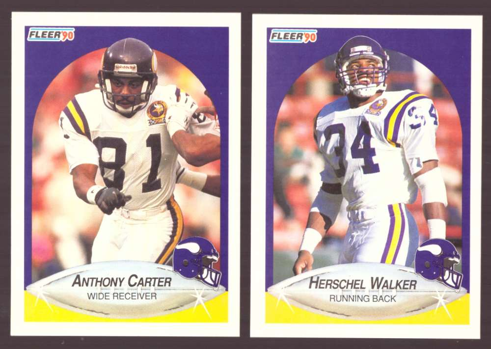 1990 Fleer Football Team Set - MINNESOTA VIKINGS