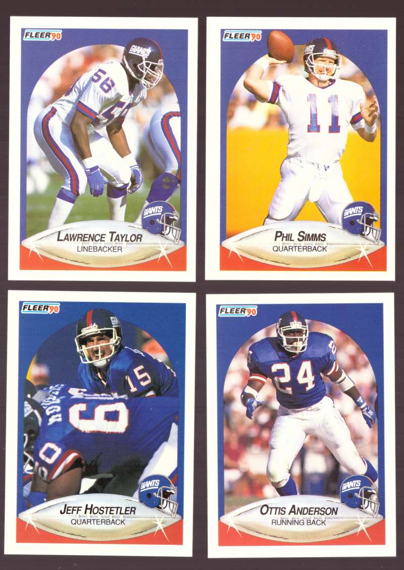 1990 Fleer Football Team Set - NEW YORK GIANTS