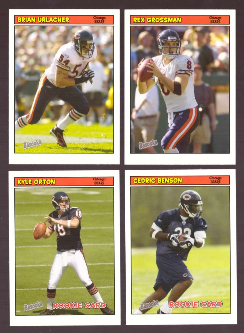 2005 Bazooka Football Team Set - CHICAGO BEARS