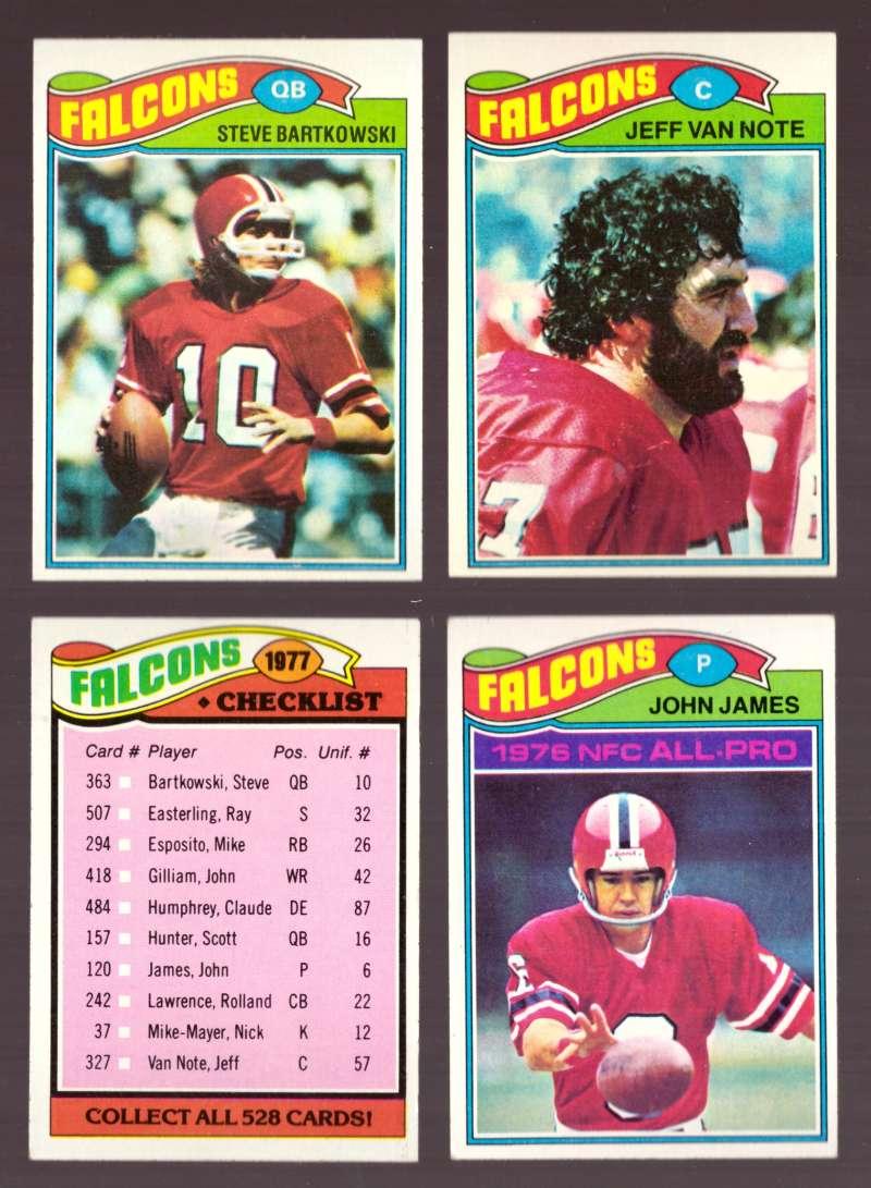 1977 Topps Football (D) Team Set - ATLANTA FALCONS
