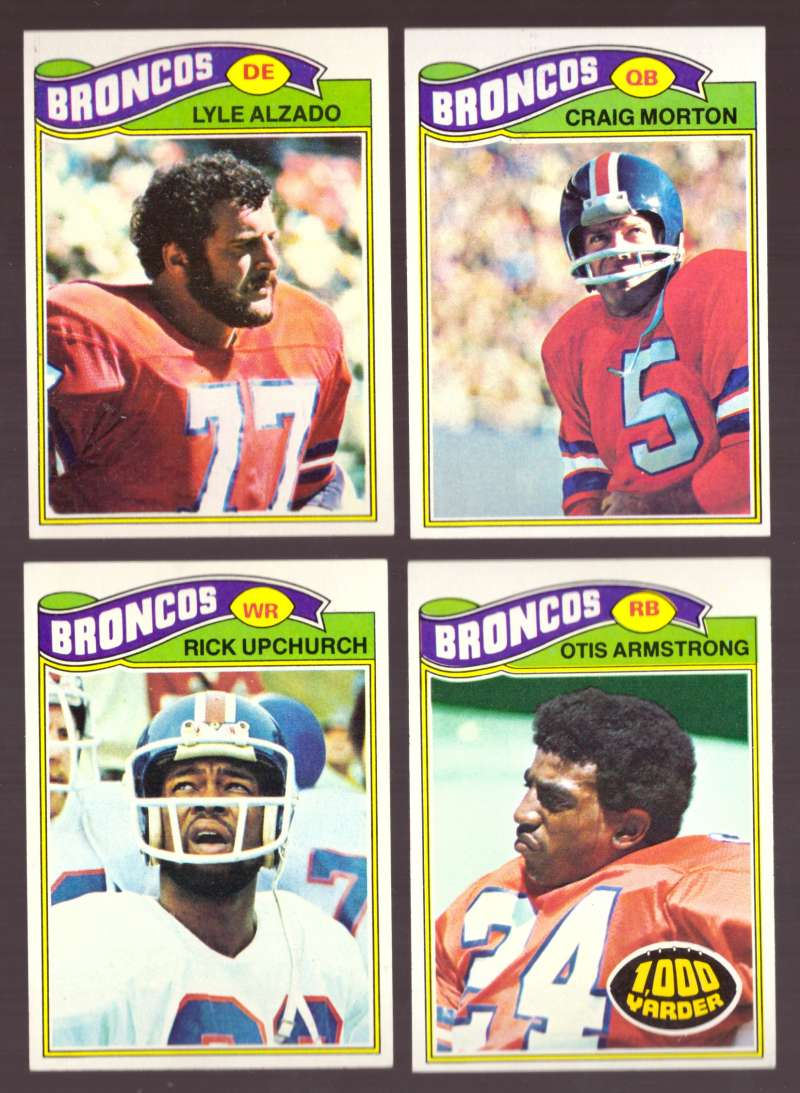 1977 Topps Football (D) Team Set - DENVER BRONCOS