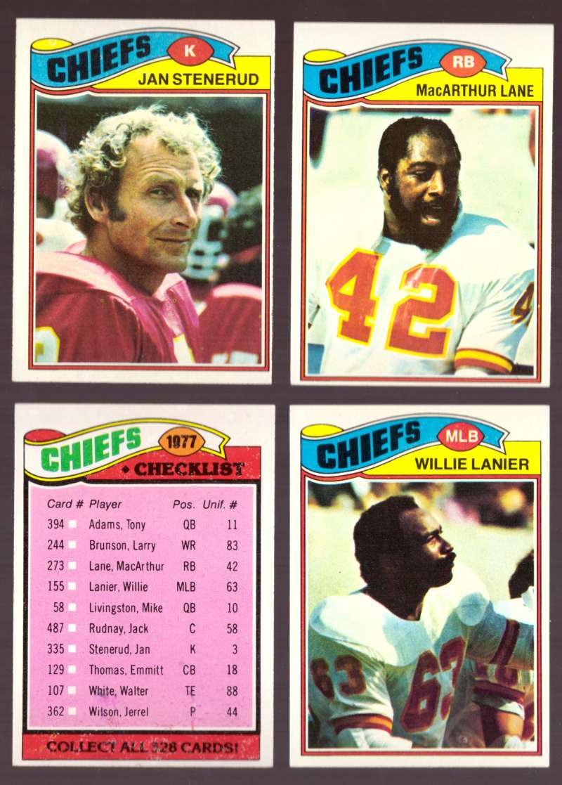 1977 Topps Football (D) Team Set - KANSAS CITY CHIEFS�