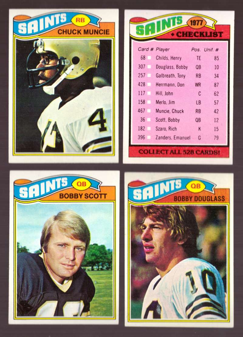 1977 Topps Football (D) Team Set - NEW ORLEANS SAINTS