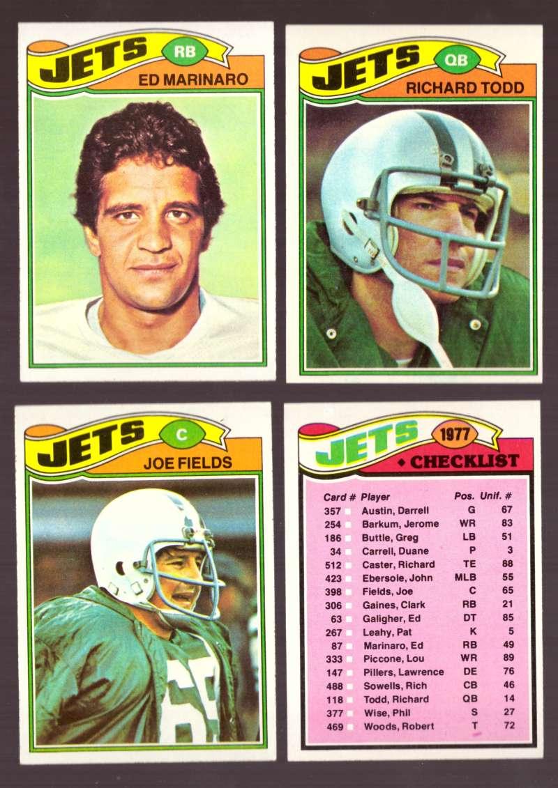 1977 Topps Football (D) Team Set - NEW YORK JETS