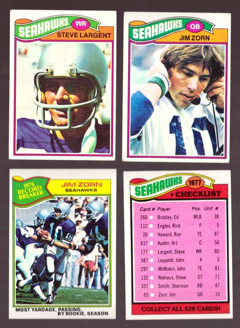 1977 Topps Football (D) Team Set - SEATTLE SEAHAWKS