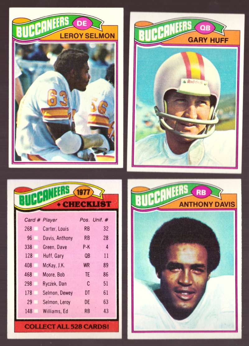 1977 Topps Football (D) Team Set - TAMPA BAY BUCCANEERS