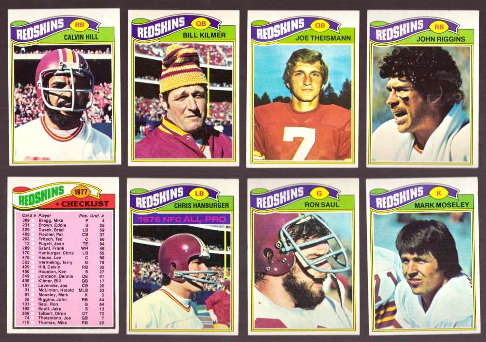 1977 Topps Football (D) Team Set - WASHINGTON REDSKINS