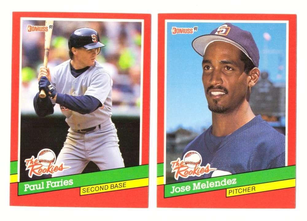 1991 Donruss Rookies - SAN DIEGO PADRES Team Set