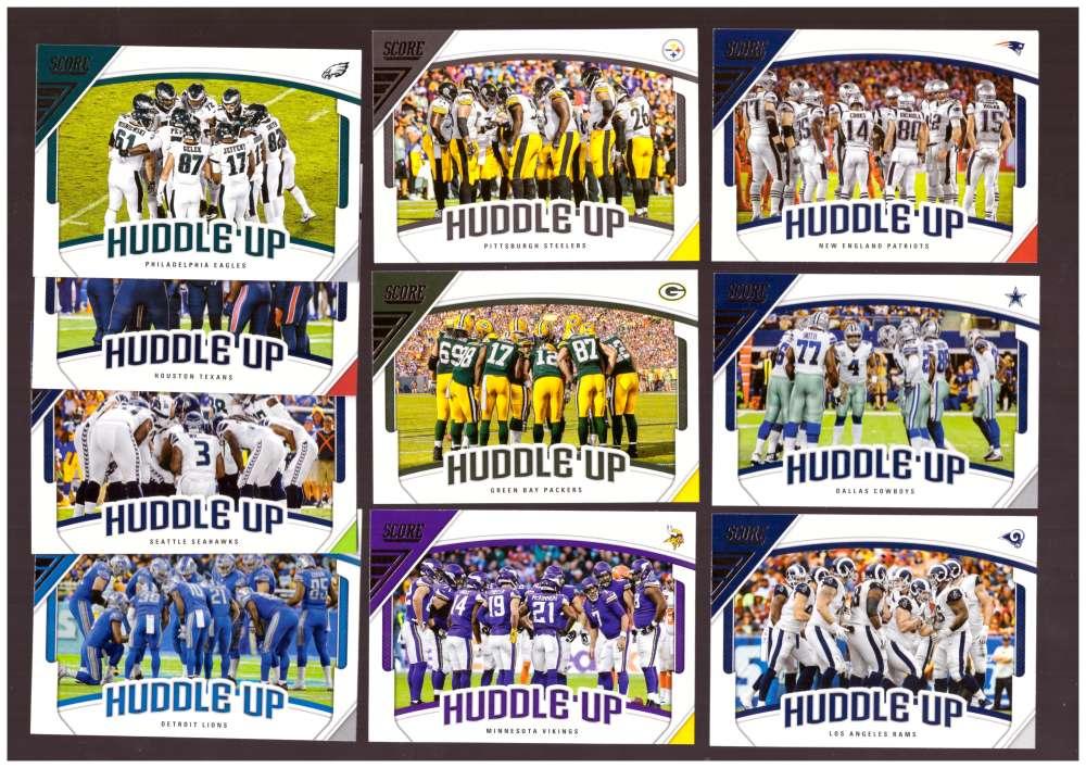 2018 Score Football Insert Set - Huddle Up Set - 10 Cards
