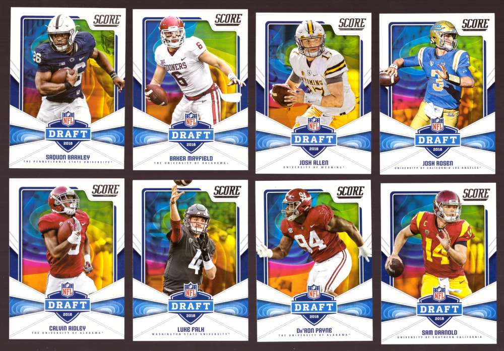 2018 Score Football Insert Set - NFL Draft Set  - 30 Cards