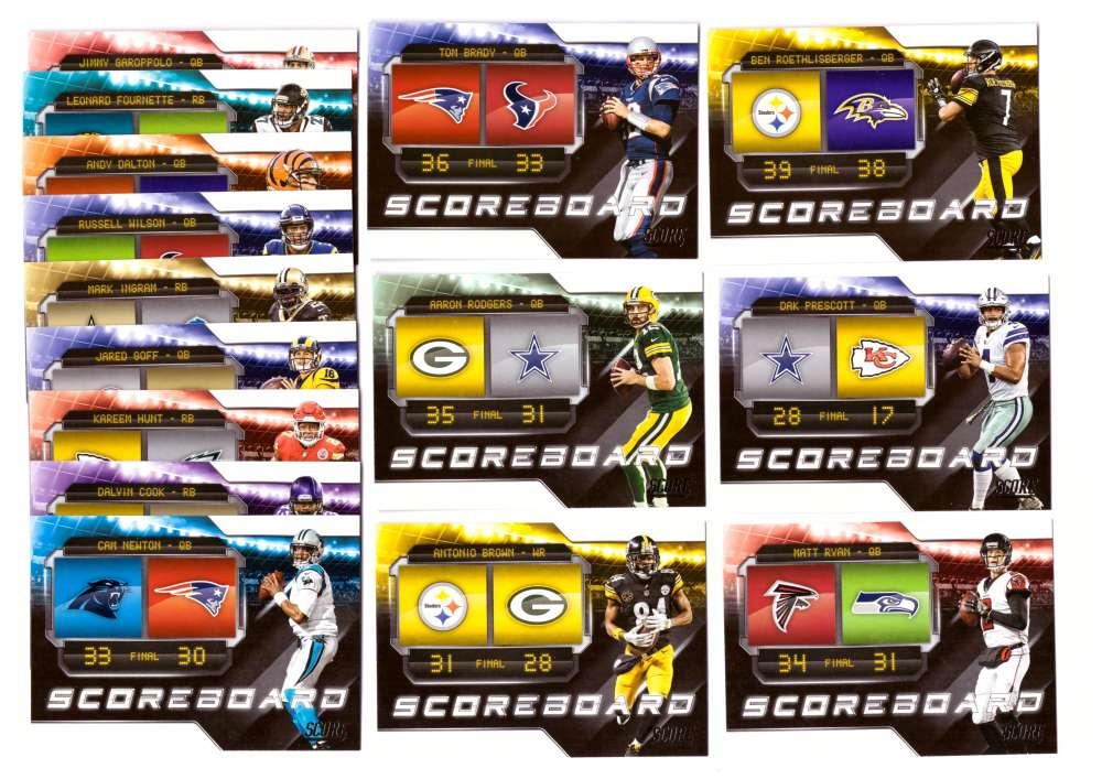 2018 Score Football Insert Set - Scoreboard Set - 15 Cards