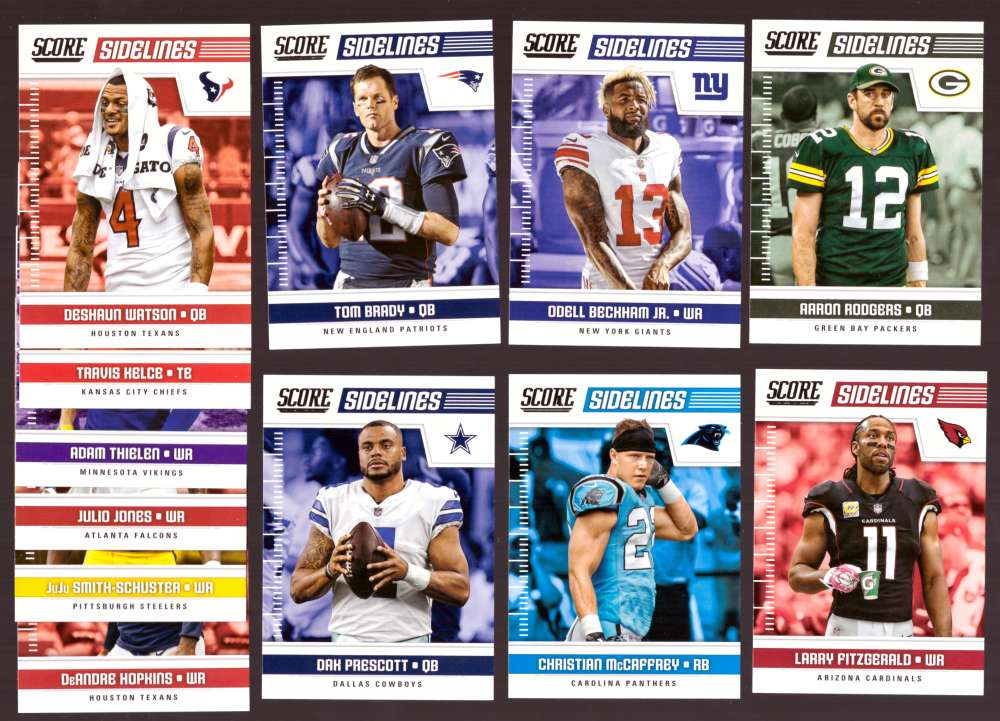 2018 Score Football Insert Set - Sidelines Set -20 Cards