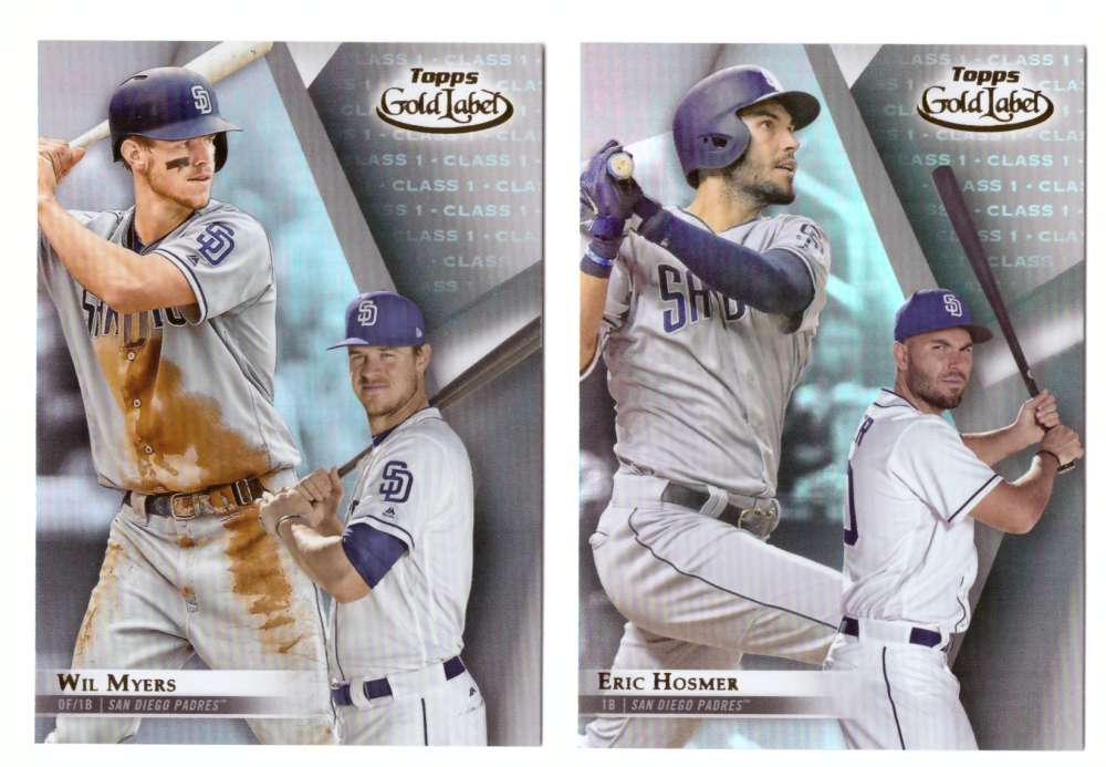 2018 Topps Gold Label Class 1 - SAN DIEGO PADRES Team Set