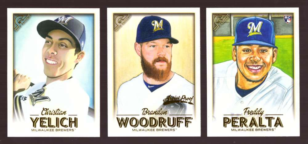 2018 Topps Gallery - MILWAUKEE BREWERS Team Set