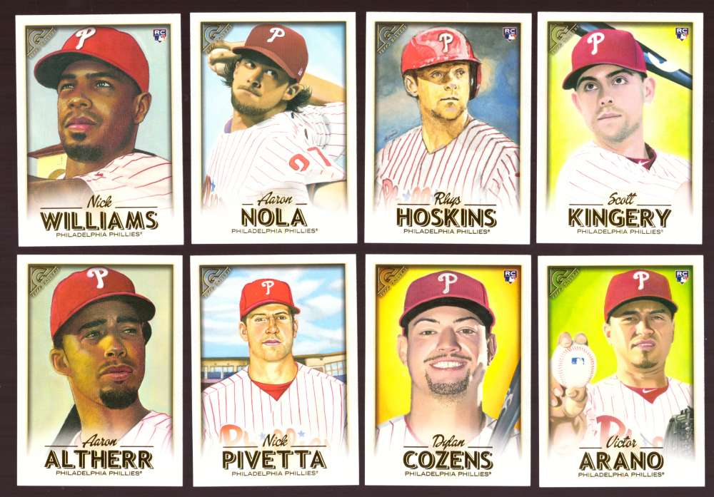 2018 Topps Gallery - PHILADELPHIA PHILLIES Team Set