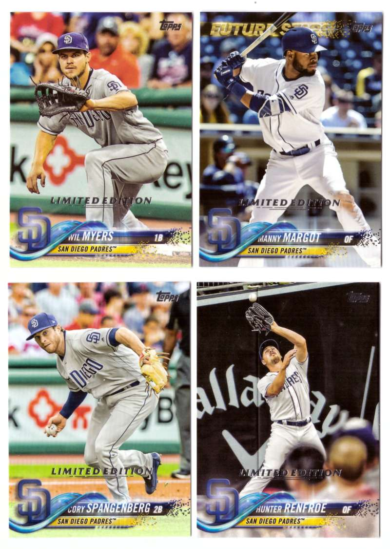 2018 Topps Limited (Tiffany) - SAN DIEGO PADRES Team Set