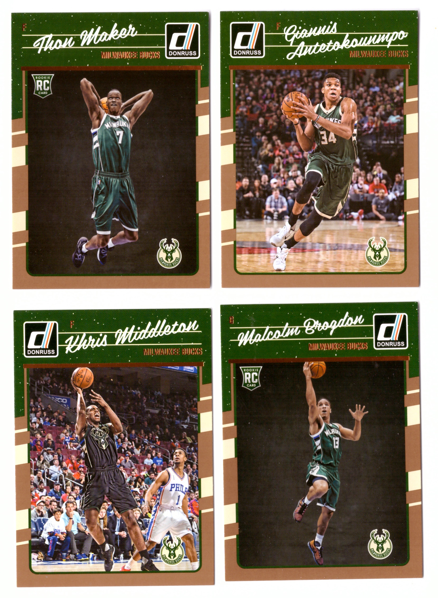 2016-17 Donruss Basketball Team Set - Milwaukee Bucks