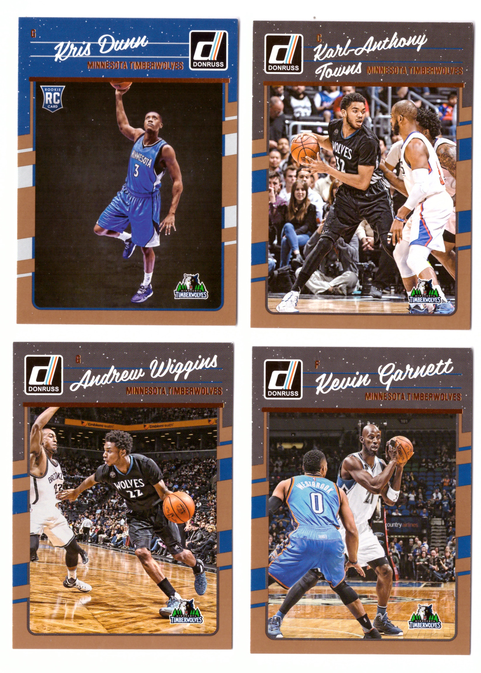 2016-17 Donruss Basketball Team Set - Minnesota Timberwolves