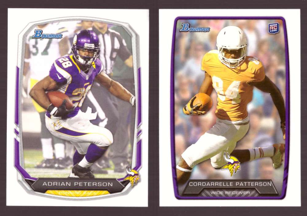 2013 Bowman Football Team Set - MINNESOTA VIKINGS