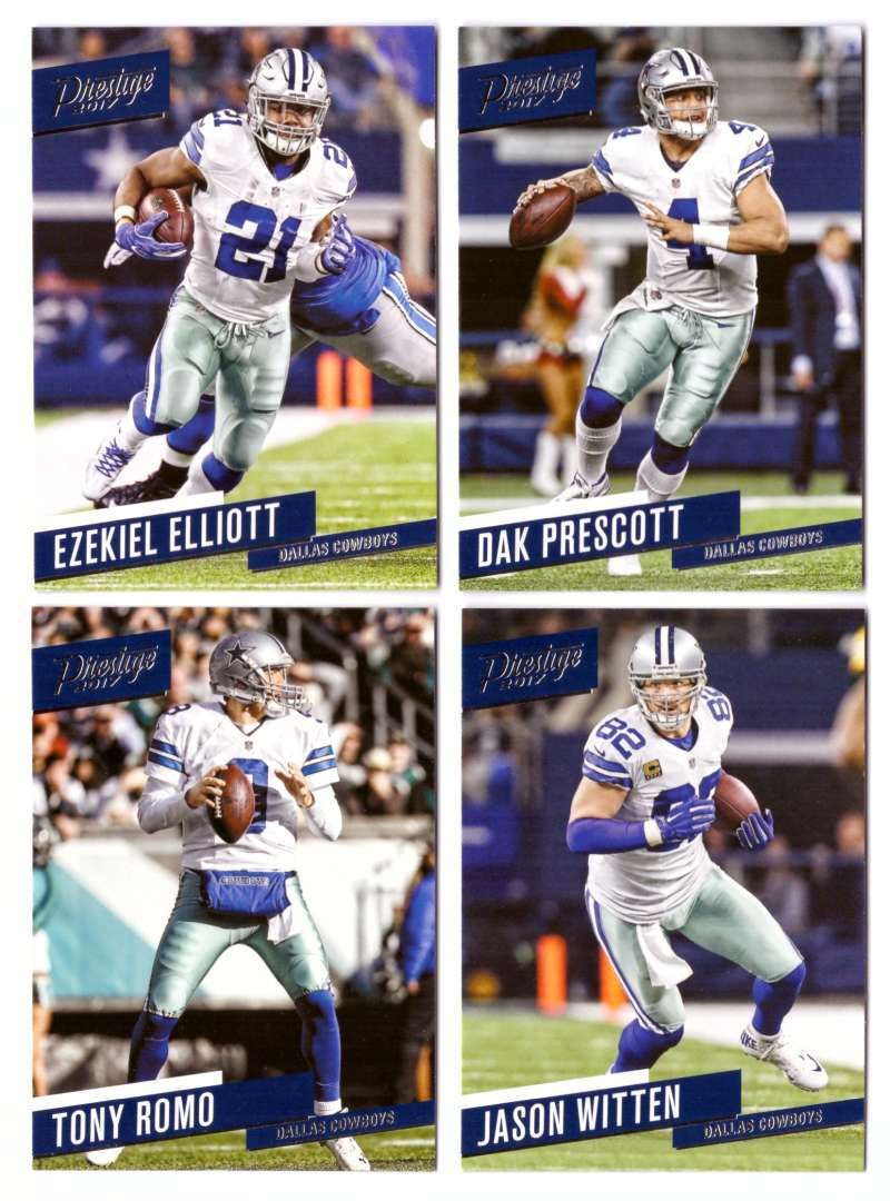 2017 Prestige Base (1-200) Football Team Set - DALLAS COWBOYS