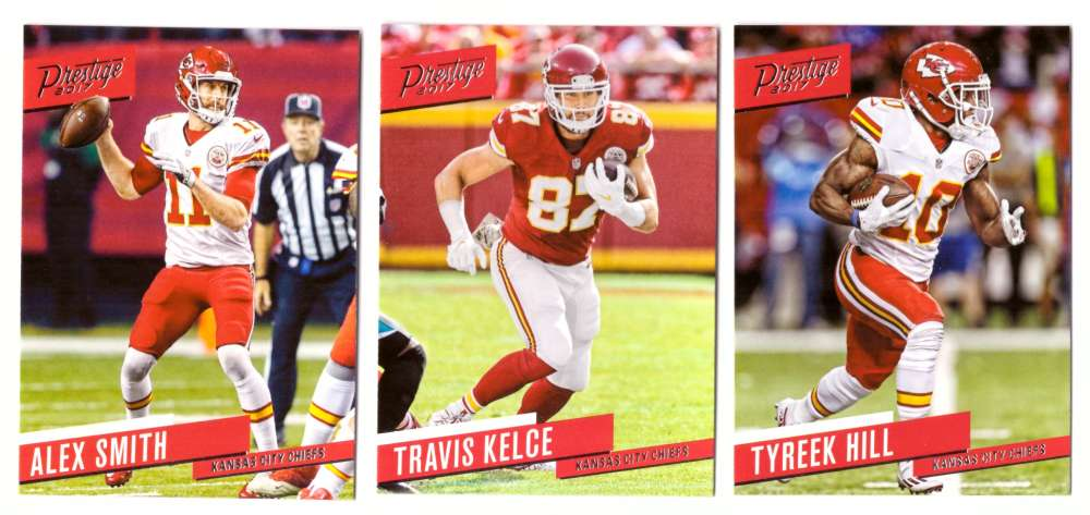 2017 Prestige Base (1-200) Football Team Set - KANSAS CITY CHIEFS