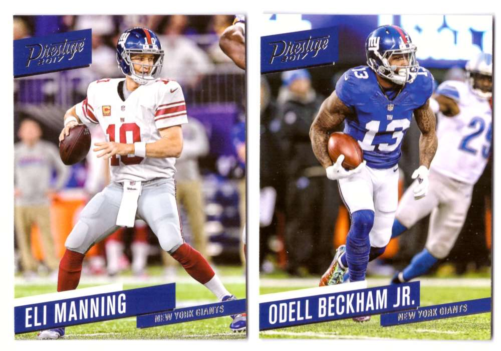 2017 Prestige Base (1-200) Football Team Set - NEW YORK GIANTS