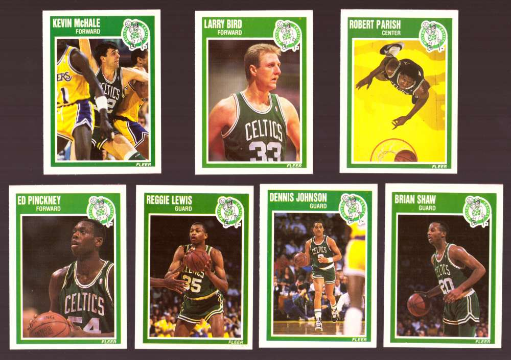 1989-90 Fleer Basketball Team Set - Boston Celtics