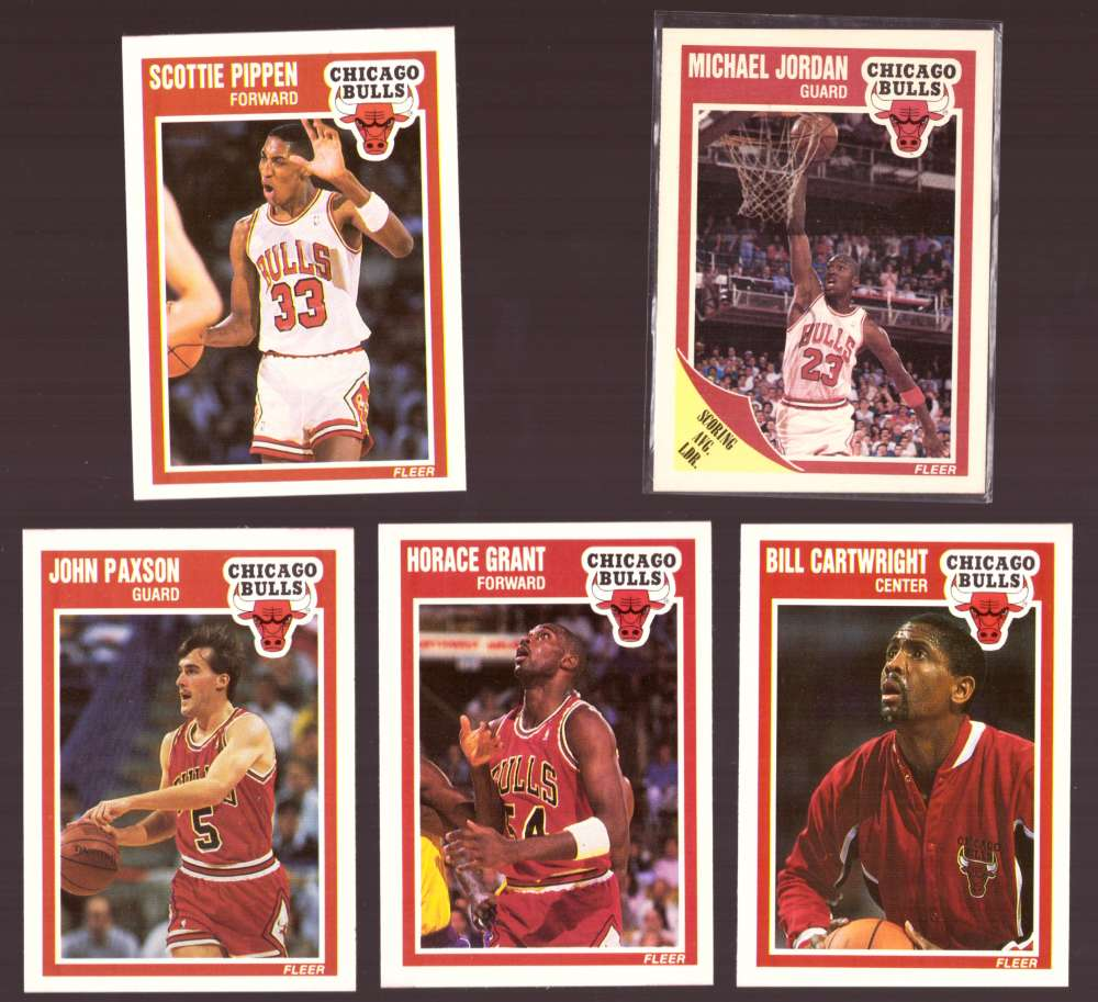 1989-90 Fleer Basketball Team Set - Chicago Bulls (B)