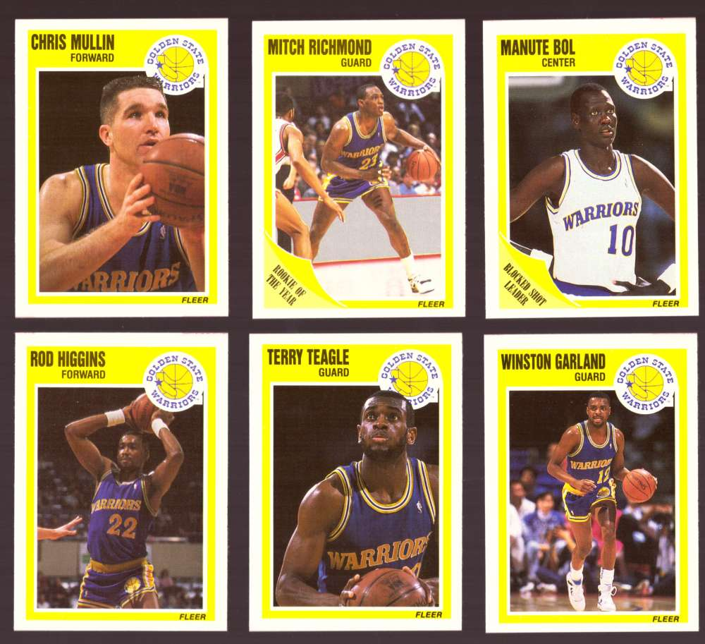 1989-90 Fleer Basketball Team Set - Golden State Warriors