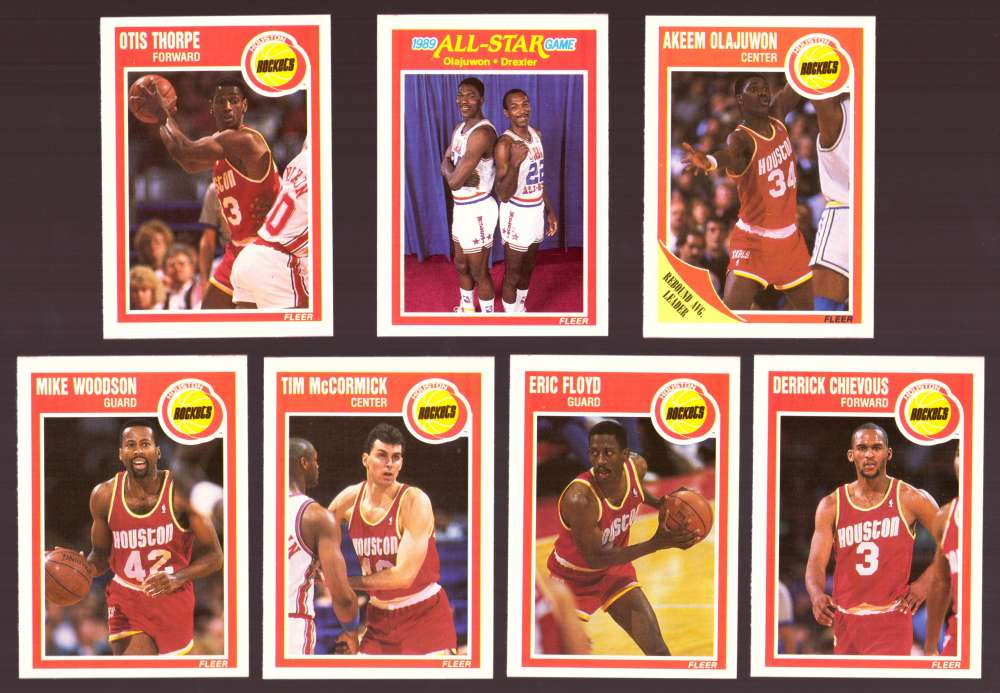 1989-90 Fleer Basketball Team Set - Houston Rockets