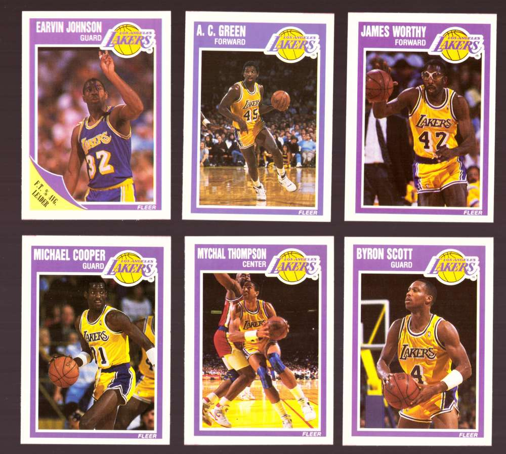 1989-90 Fleer Basketball Team Set - Los Angeles Lakers