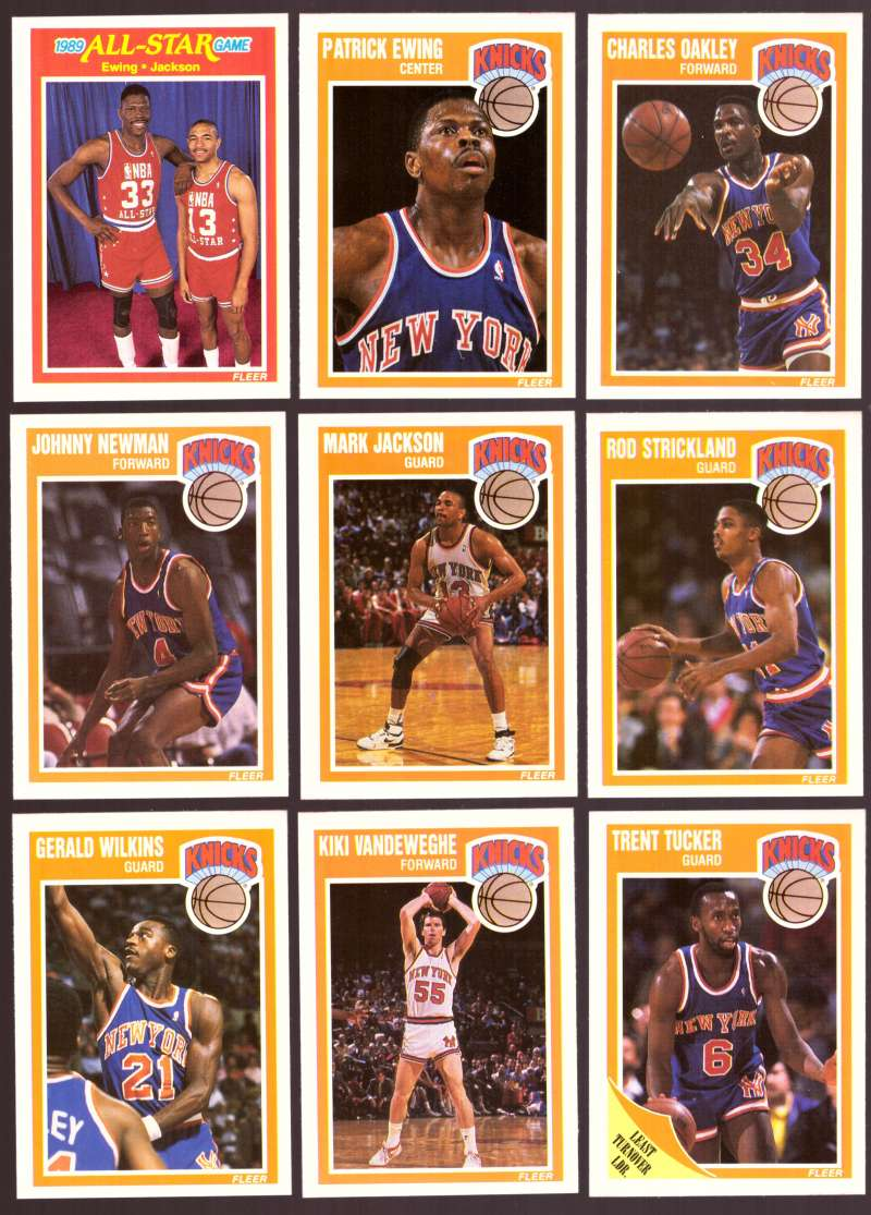 1989-90 Fleer Basketball Team Set - New York Knicks