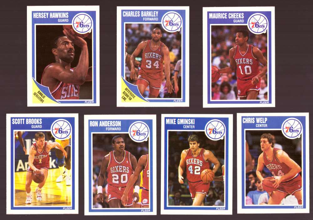 1989-90 Fleer Basketball Team Set - Philadelphia 76ers