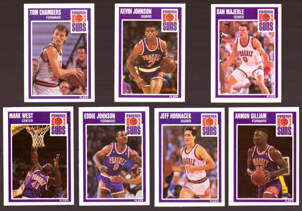 1989-90 Fleer Basketball Team Set - Phoenix Suns