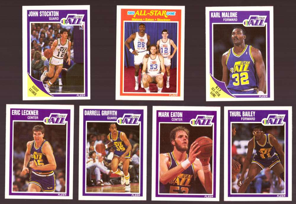 1989-90 Fleer Basketball Team Set - Utah Jazz