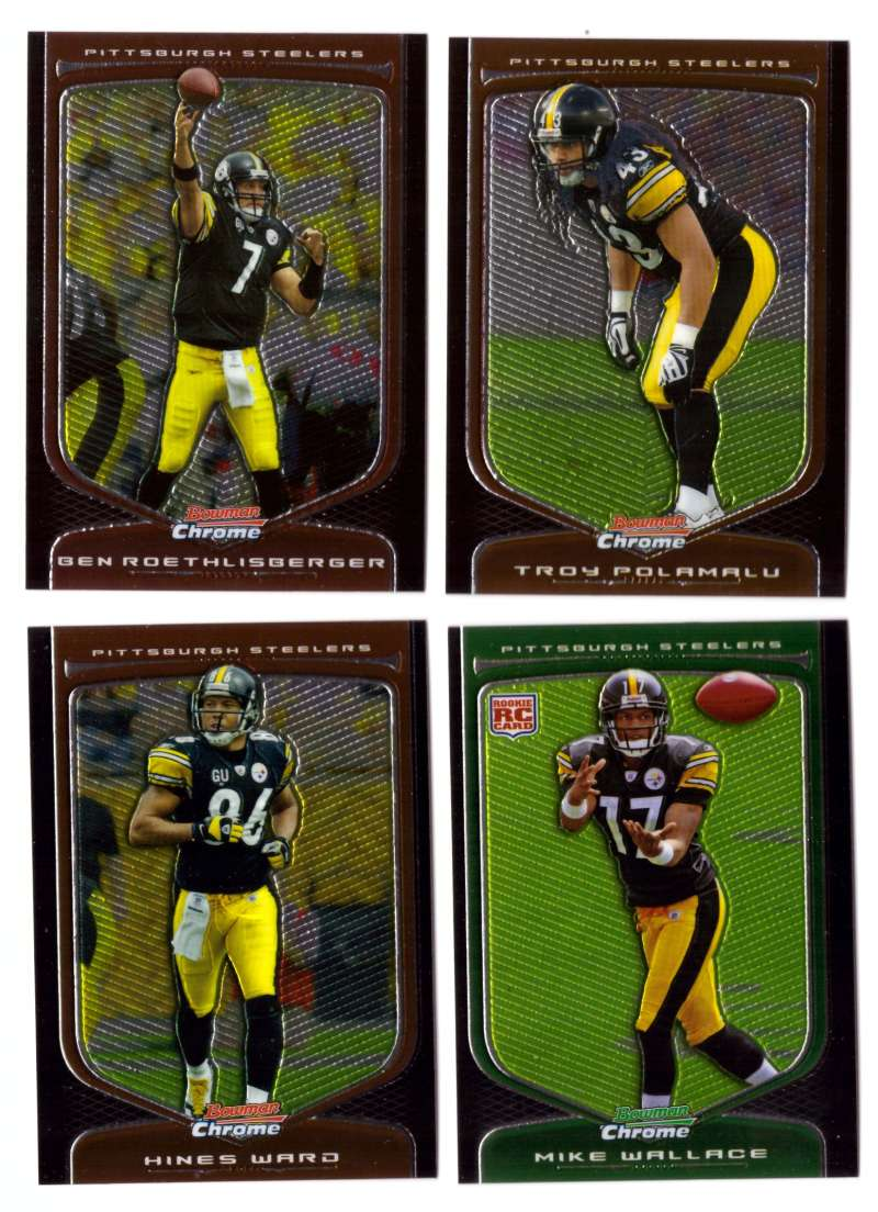 2009 Bowman Chrome Football - PITTSBURGH STEELERS