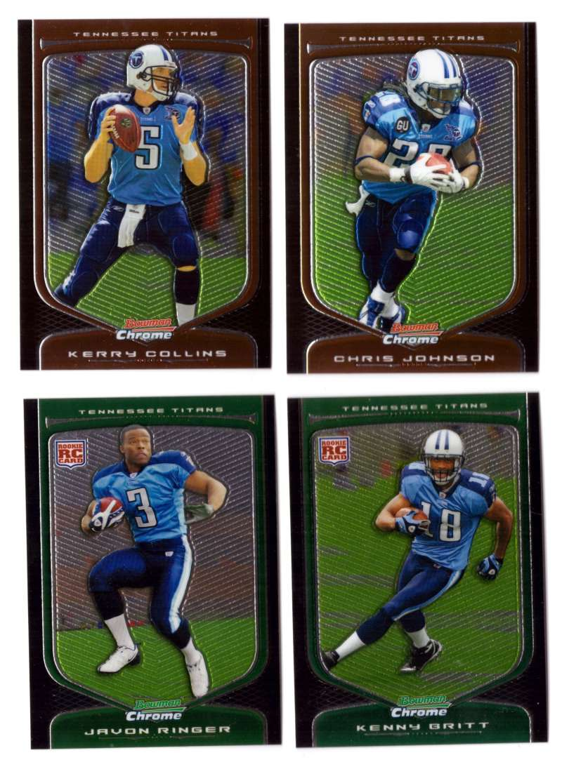2009 Bowman Chrome Football - TENNESSEE TITANS