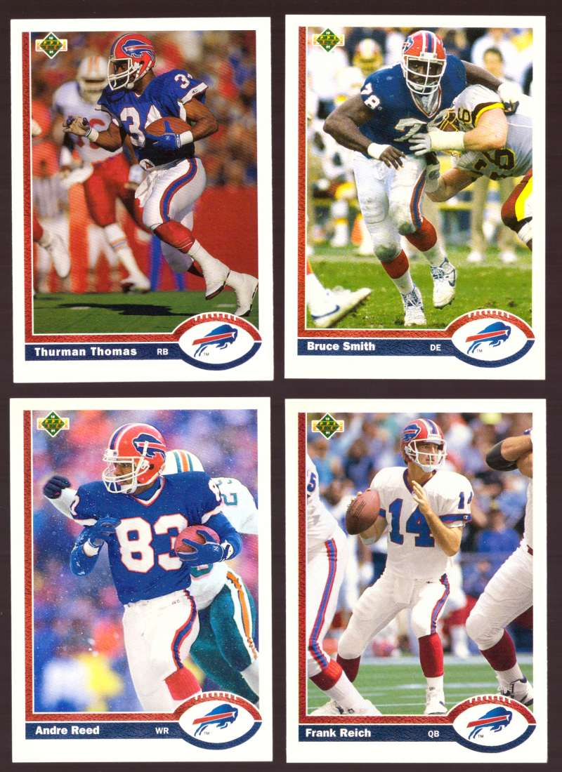 1991 Upper Deck (1-700) Football Team Set - BUFFALO BILLS