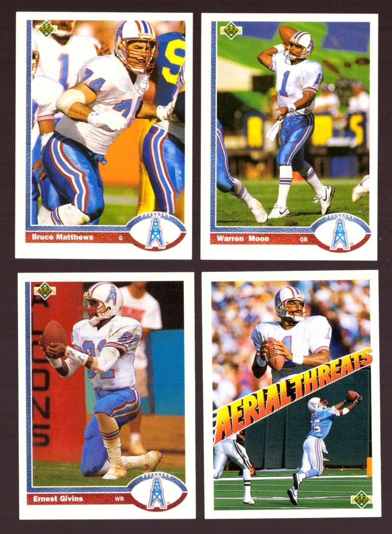 1991 Upper Deck (1-700) Football Team Set - HOUSTON OILERS