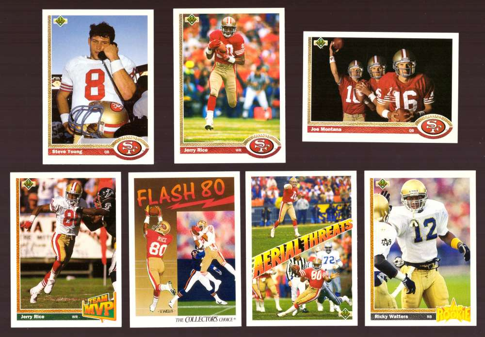 1991 Upper Deck (1-700) Football Team Set - SAN FRANCISCO 49ERS