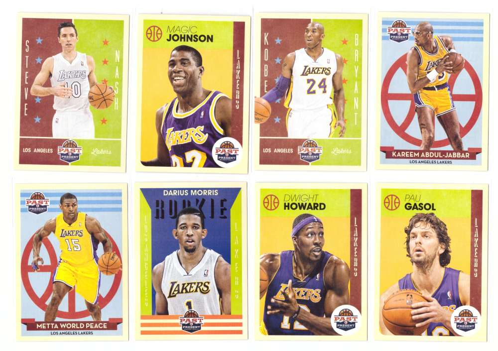 2012-13 Panini Past and Present Basketball Team Set - Los Angeles Lakers