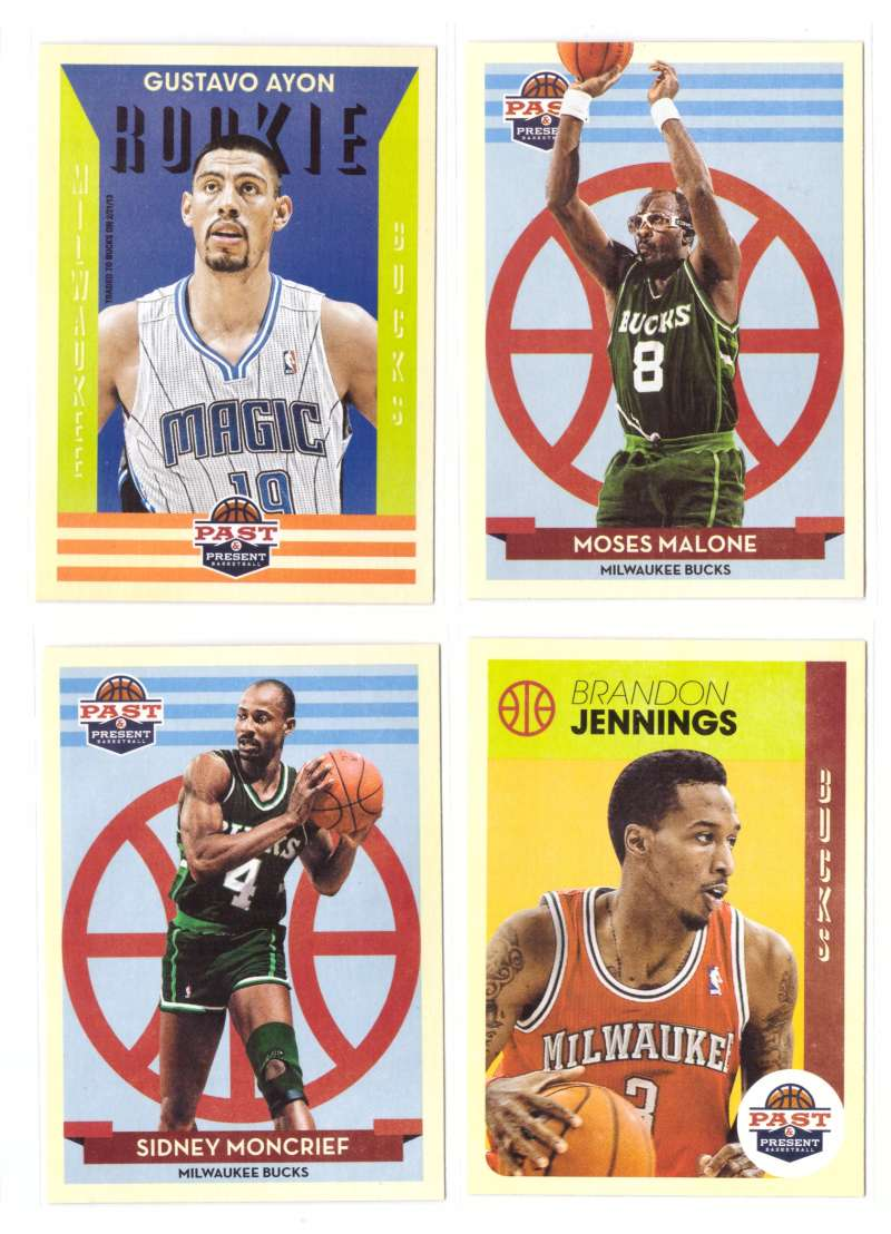 2012-13 Panini Past and Present Basketball Team Set - Milwaukee Bucks