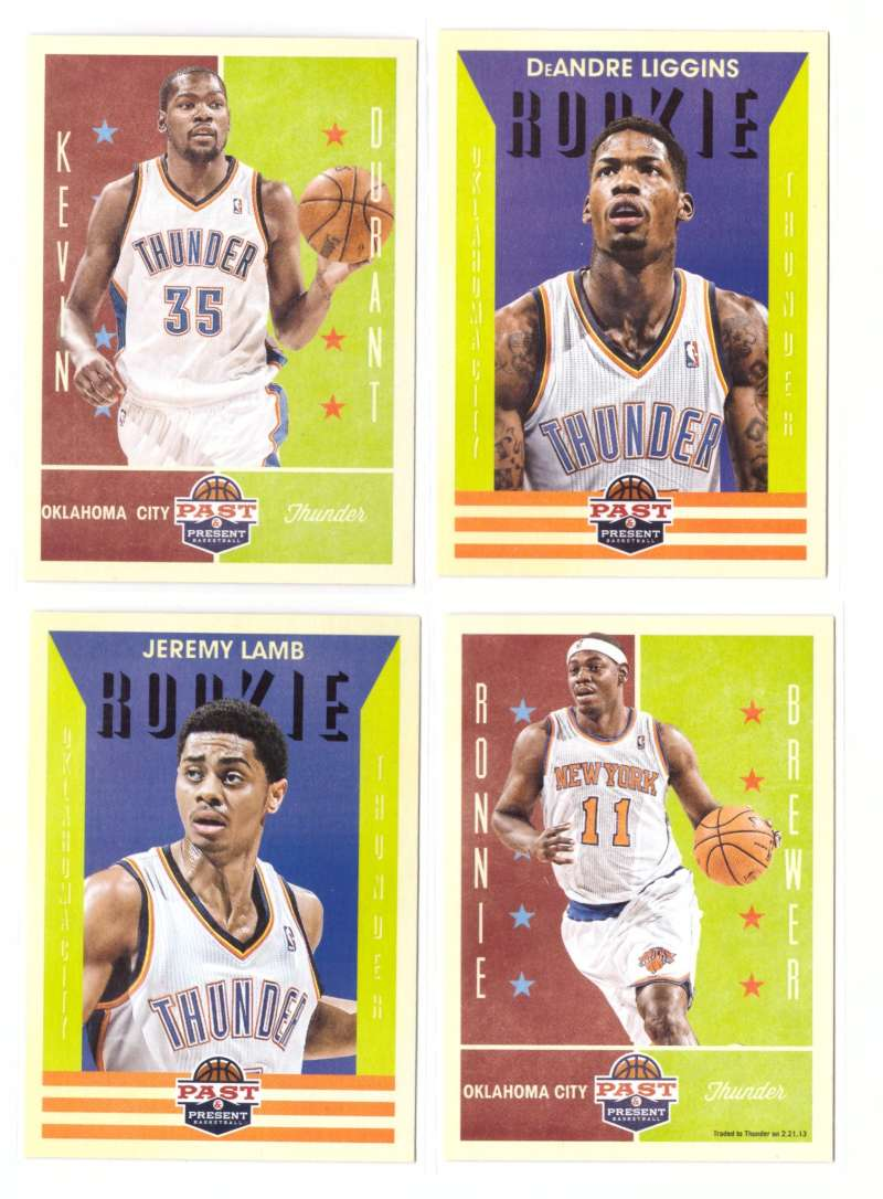 2012-13 Panini Past and Present Basketball Team Set - Oklahoma City Thunder