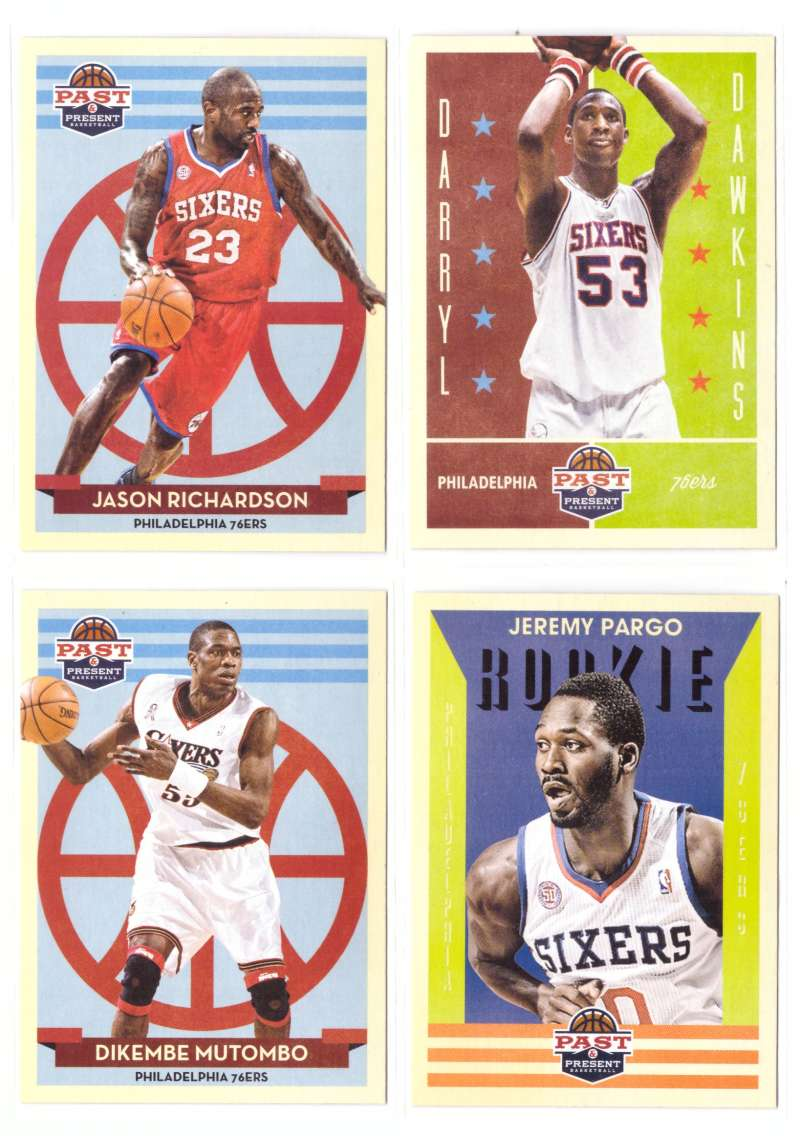 2012-13 Panini Past and Present Basketball Team Set - Philadelphia 76ers